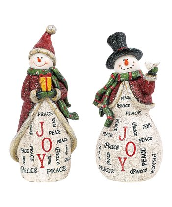 7.5'' Holiday Word Snowman Figurine Set