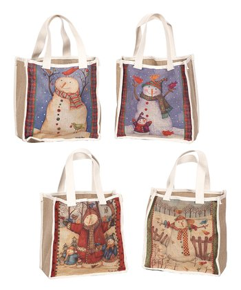 Button Snowman Bag Set