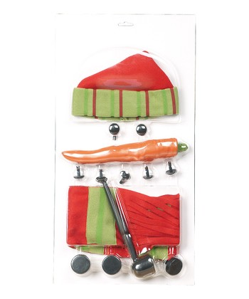 Red & Green Build-A-Snowman Kit