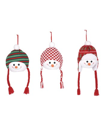 Snowman Hat Ornament Set