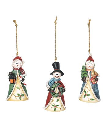 Holiday Coat Snowman Ornament Set
