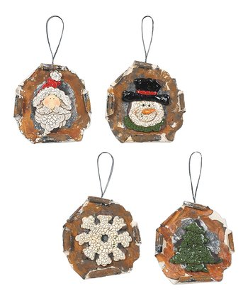 Vintage Holiday Ornament Set