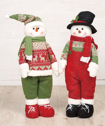 Sparkle Snowman Figurine Set