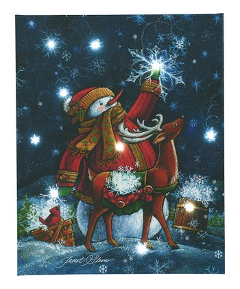 Reindeer & Snowman LED Canvas