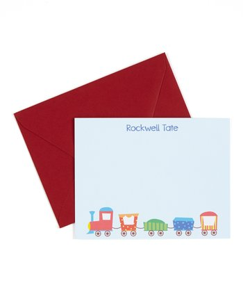 Train Personalized Note Card - Set of 10