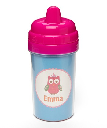 Crown Owl Personalized Sippy Cup