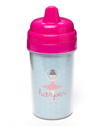 Brown-Haired Twirl Personalized Sippy Cup