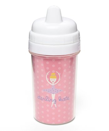 Blonde-Haired Twirl Personalized Sippy Cup