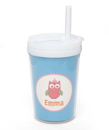 Crown Owl Personalized Toddler Cup