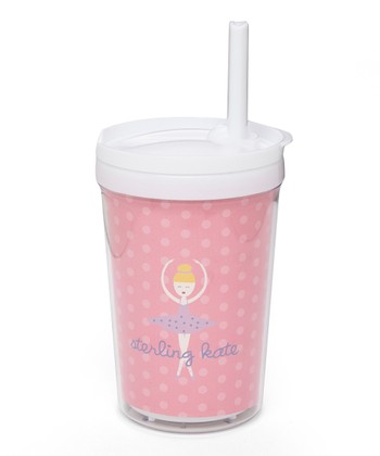 Blonde-Haired Twirl Personalized Toddler Cup
