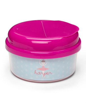Brown-Haired Twirl Personalized Snack Container