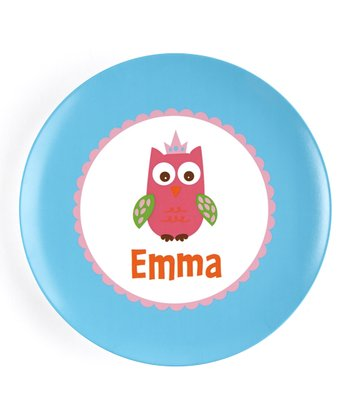 Crown Owl Personalized Plate