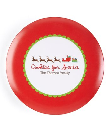 Reindeer 'Cookies for Santa' Personalized Plate