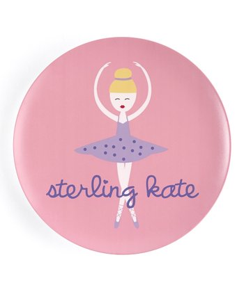 Blonde-Haired Twirl Personalized Plate