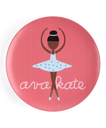 Black-Haired Twirl Personalized Plate