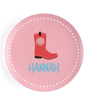 Cowgirl Boot Personalized Plate