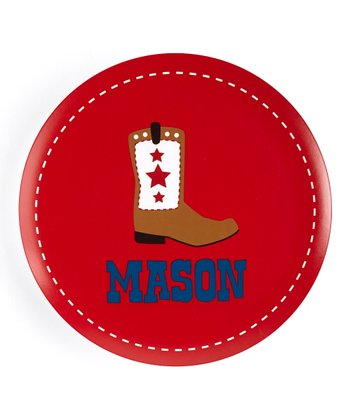 Cowboy Boot Personalized Plate