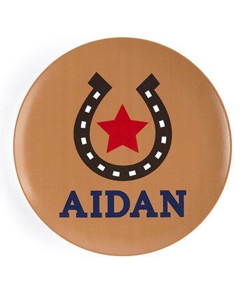 Tan Horseshoe Personalized Plate