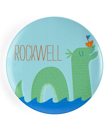 Sea Monster Personalized Plate