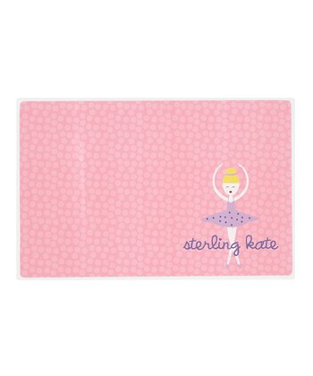 Blonde-Haired Twirl Personalized Place Mat
