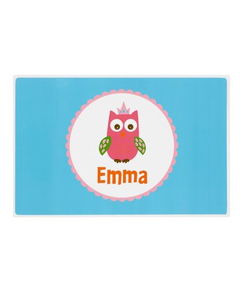 Crown Owl Personalized Place Mat