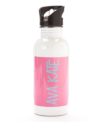 Hot Pink Personalized Water Bottle
