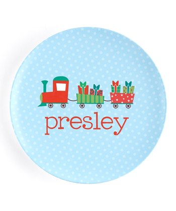 Christmas Train Personalized Plate