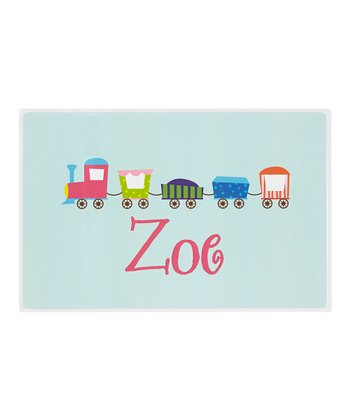 Blue & Pink Train Personalized Place Mat