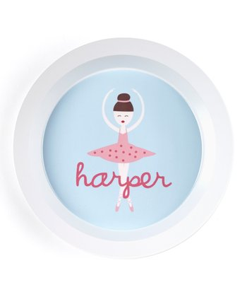 Brown-Haired Twirl Personalized Bowl