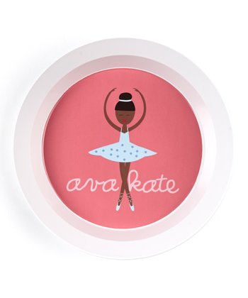 Black-Haired Twirl Personalized Bowl