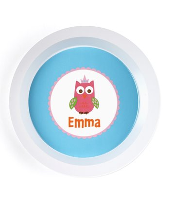 Crown Owl Personalized Bowl