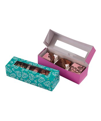 Scroll Rectangular Treat Box Set