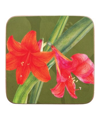 Amaryllis Coaster - Set of Four