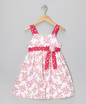 Pink Daisy Floral Dress - Toddler & Girls