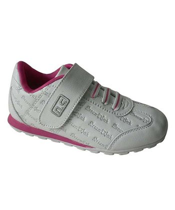 White & Fuchsia Adjustable Sneaker
