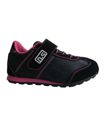 Black & Fuchsia Adjustable Sneaker