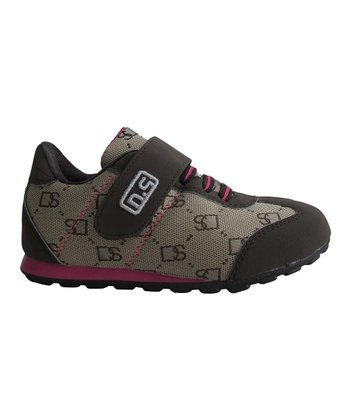 Brown & Fuchsia Adjustable Sneaker