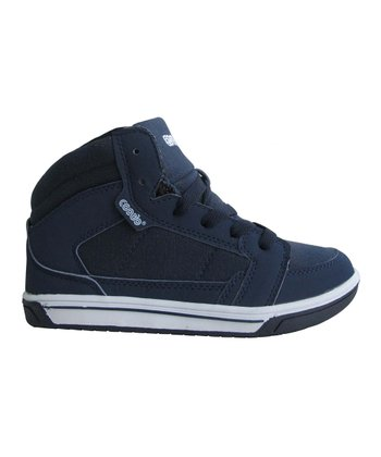Navy Canvas Hi-Top Sneaker