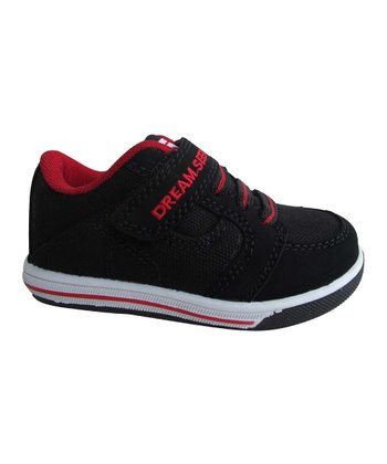 Black & Red Adjustable Slip-On Sneaker