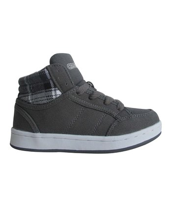 Gray Plaid Hi-Top Sneaker