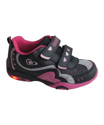 Black & Fuchsia Adjustable Light-Up Sneaker