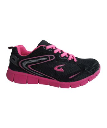 Black & Fuchsia Bright Sneaker