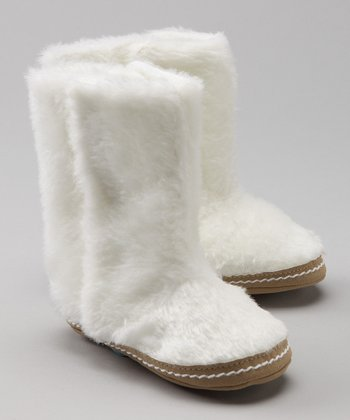 White Fur Boots - Infant