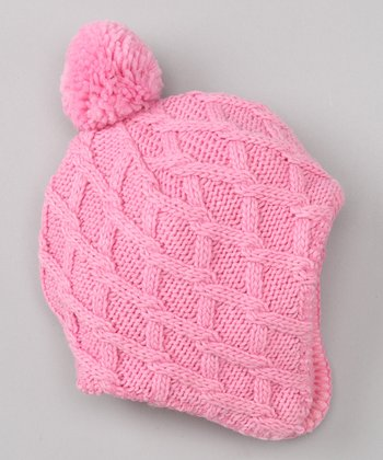 Light Pink Winter Wear Earflap Hat - Infant & Toddler