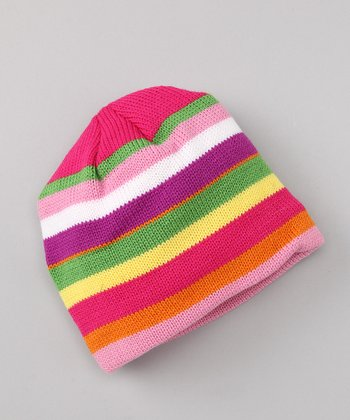 Pink Stripe Winter Wear Beanie
