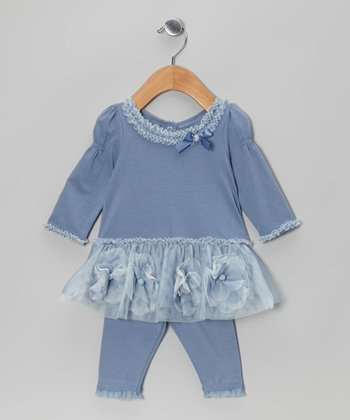 Blue Bloom Tunic & Leggings - Infant