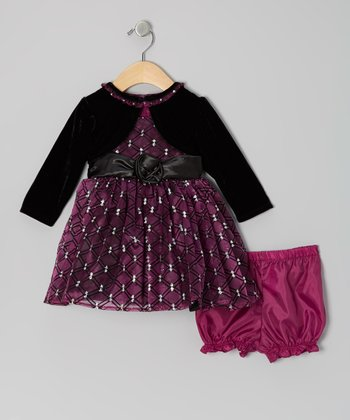 Purple Diamond Dress Set - Infant