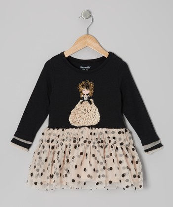 Black Glamorous Gal Dress - Infant, Toddler & Girls