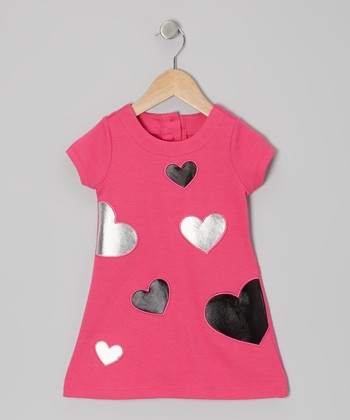 Pink Heart Shift Dress - Infant