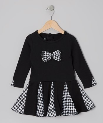Black Houndstooth Bow Dress - Infant & Toddler